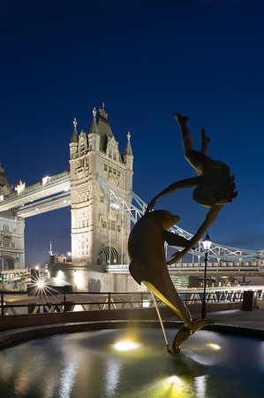 Tower Bridge at night, London, United Kingdom