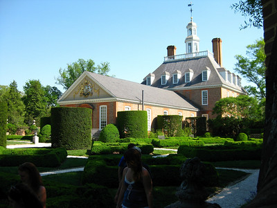 The governor's palace in WIlliamsburg.