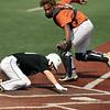 Baseball play at the plate