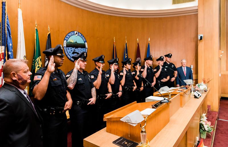 8 14 19 Lynn police officer swearing in 1