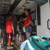 Kristi Garabrandt - The News-Herald<br /> Eastlake Fire Department had a rescue squad on display for the kids to check out during Eastlake's National Night Out.
