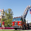 Jonathan Tressler - The News-Herald. THe Chardon Fire Department flew some colors of its own just south of the Geauga Conty Courthouse on Chardon Square Aug. 1 during the 33rd Annual National Night Out event.