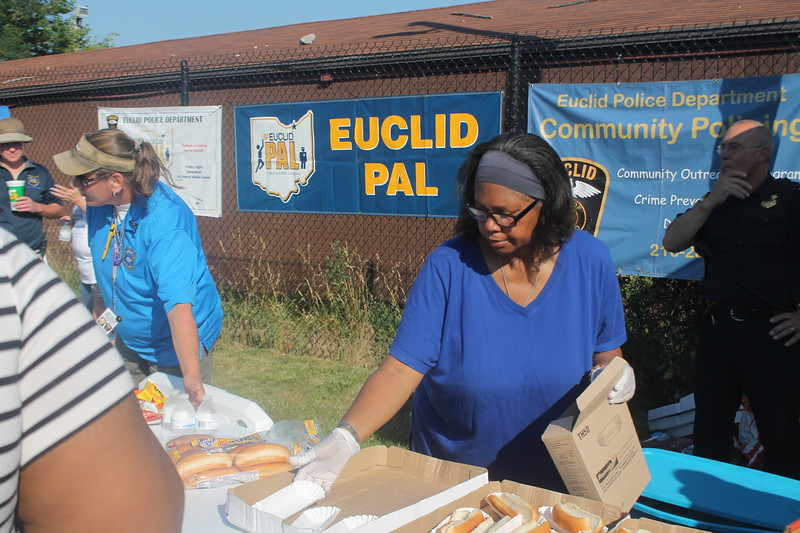 Kristi Garabrandt - The News-Herald<br /> Hot dogs are prepared for attendees.