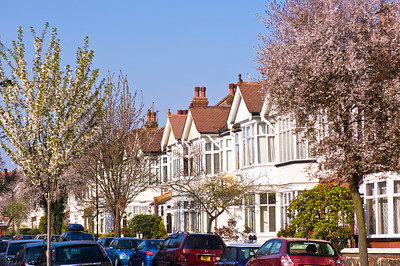 Row of houses, Ealing, W5, London, United Kingdom