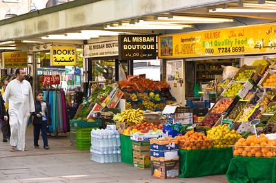 Grocery store selling ethnic produce, Edgware Road, W2, London, United Kingdom