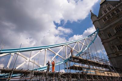 Scaffoldings on Tower Bridge, London, United Kingdom