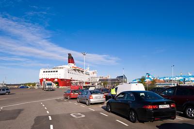 Ferry being loaded in Port, Turku, Baltic Sea, Finland