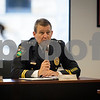 Sam Buckner for Shaw Media.<br /> Jim Winters reports on the Sycamore Police Department at the City Council meeting on Monday August 7, 2017 before being sworn in as Chief of Police.