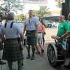 ​The Blacksheep Pipes and Drums gather outside Mullarkeys.​<br />  (Kristi Garabrandt/The News-Herald)