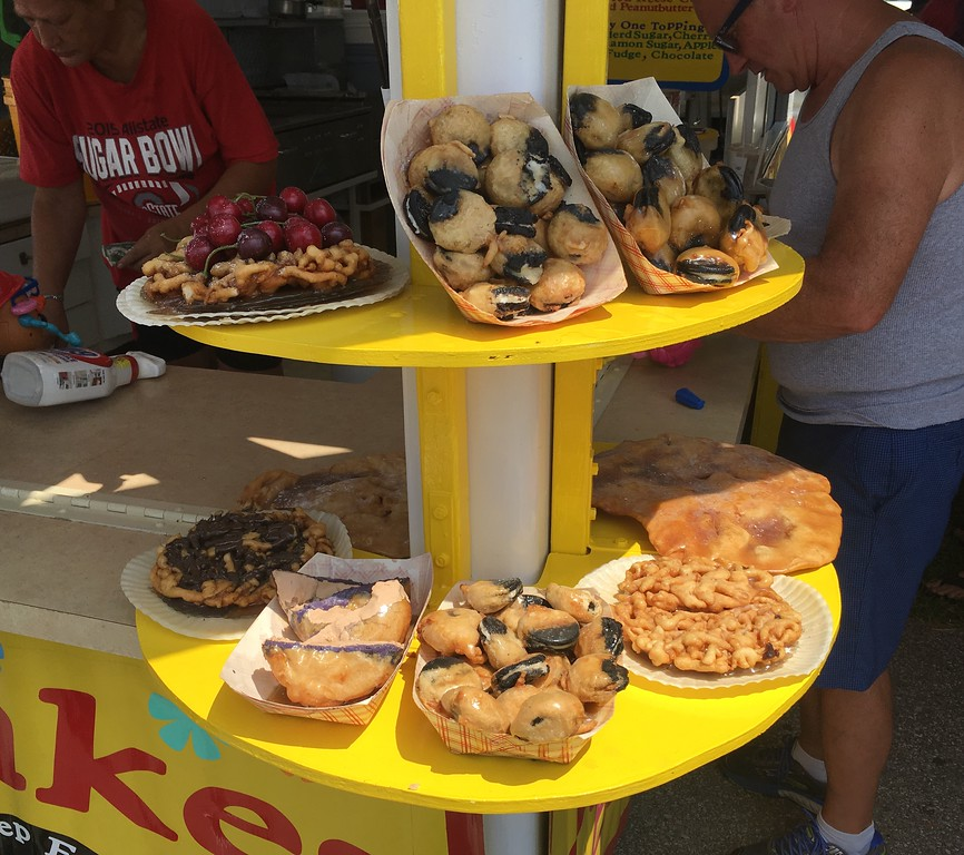 . Deep-fried goodies at funnel cake concession stand. David S. Glasier - The News-Herald