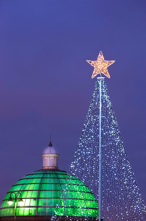 Christmas scene, Greenwich,  London, United Kingdom