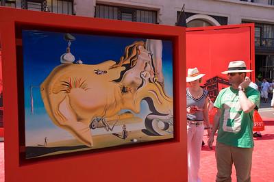 "People enjoy festival ""Taste of Spain"" on Regent Street, W1, London, United Kingdom"