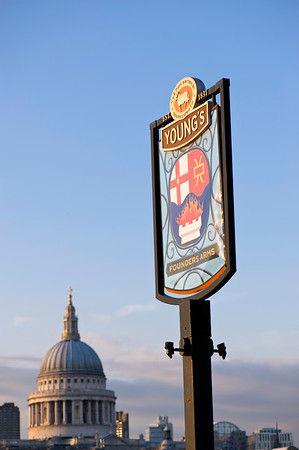 Young's pub by Thames River, Southbank, London, United Kingdom