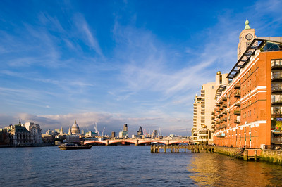 Oxo Tower Wharf overlooking Thames River, London, United Kingdom