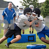 Sam Buckner for Shaw Media.<br /> Griffin Hansen and Jason Szczepanski go head to head during practice on Thursday August 10, 2017.