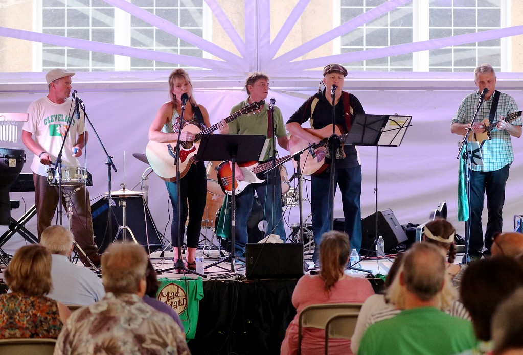 . Jonathan Tressler � The News Herald <br> Mad Macs performs on the Preston Auto Group Stage during day one of Lake County�s Ohio Celtic Festival Aug. 10 at the Lake County Fairgrounds in Painesville Township. The even runs through 8:30 p.m. Aug. 12.