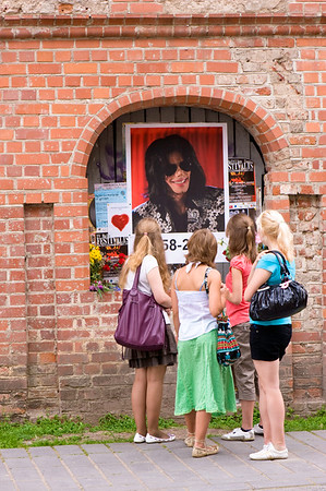Shrine in memory of Michael Jackson,  Old Town, Kaunas, Lithuania