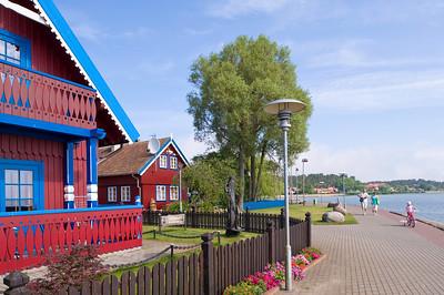 Local wooden architecture, Nida village, Neringa, Lithuania