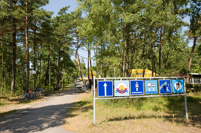 Signs for beach, Nida village, Neringa, Lithuania