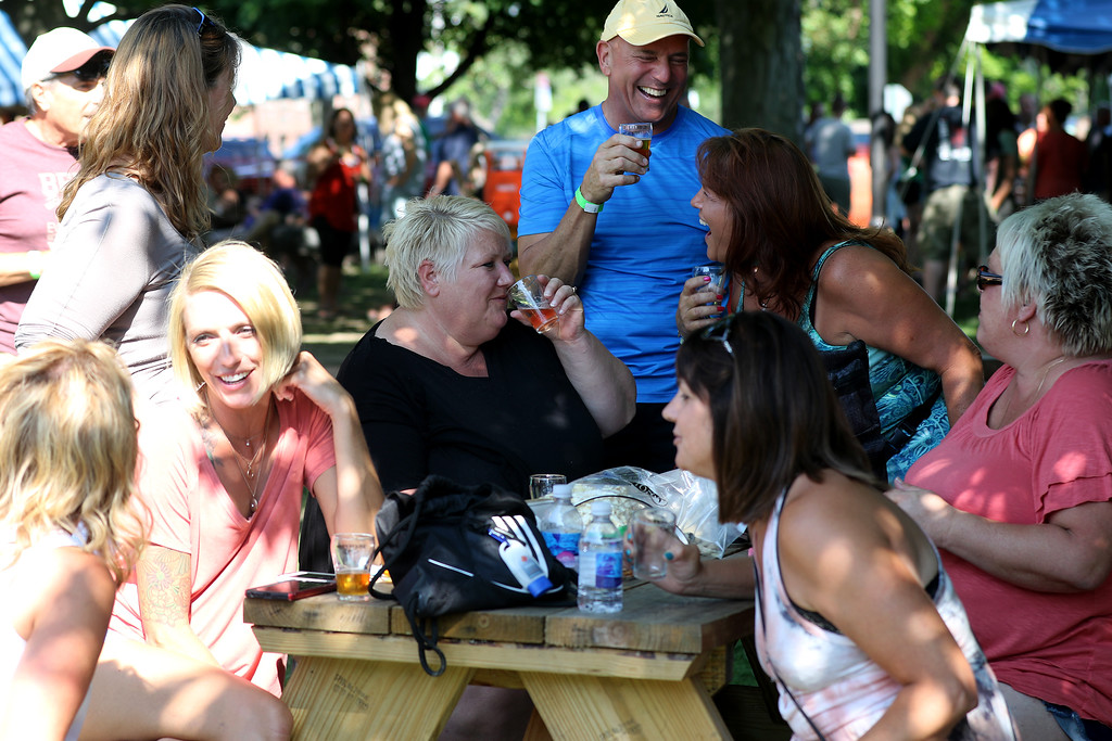 . Jonathan Tressler � The News Herald <br> A scene from the 2018 Chardon Brewfest on the city�s square Aug. 11.