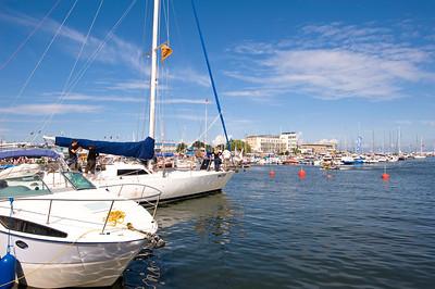 Yachts in a marina by Kosciuszko Square, Gdynia, Poland