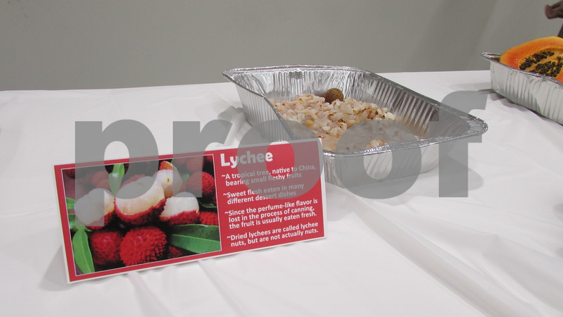 Aimee Barrows - for Shaw Media<br /> Lychee fruit was among the funky fruits sampled.
