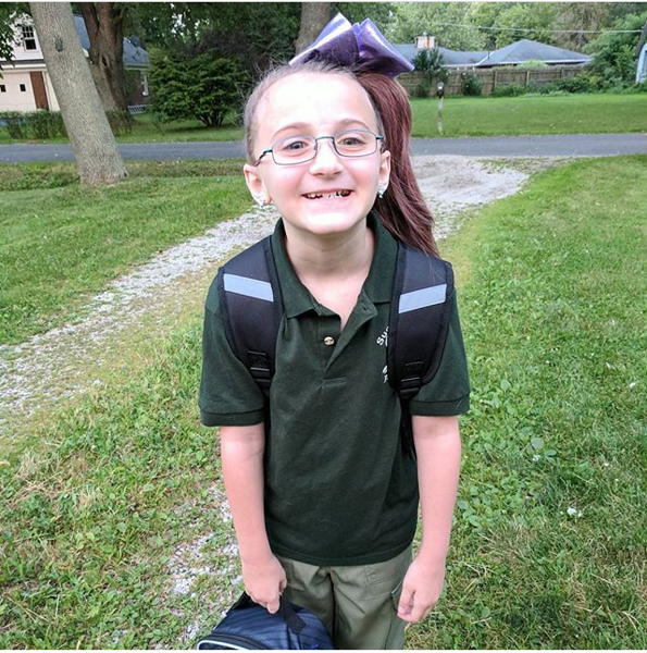 . Bella is eager for her first day back to school at Summit Academy in Painesville. (Submitted)