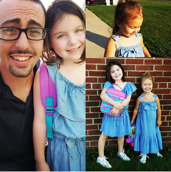 . Emeri Pringle is ready for her first day of kindergarten at Longfellow, and Brooklyn Pringle is ready for her first day of preschool at Wickliffe Elementary! (Submitted)