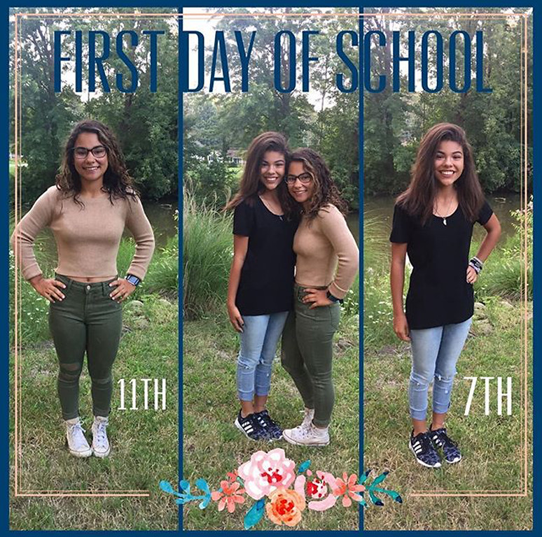 . Naomi, left, and Nadia are  ready for their first day of school at Madison Middle School and Madison High School. (Submitted)