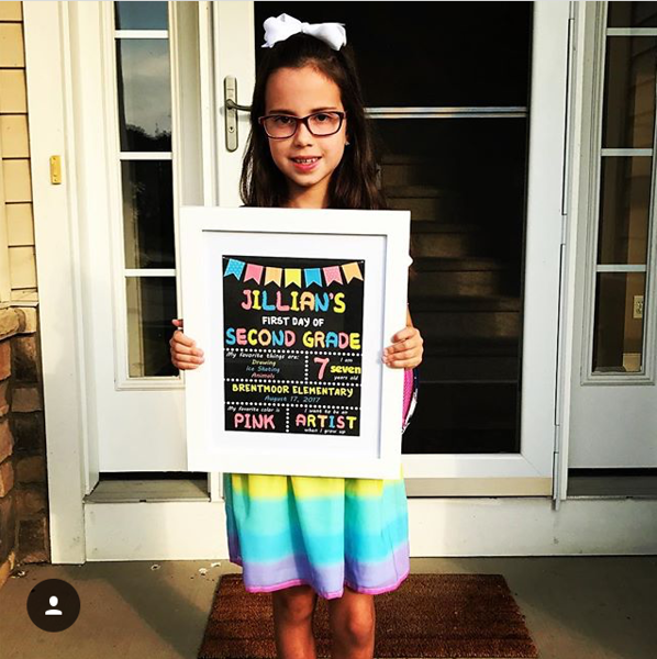 . Jillian is ready for her first day of second grade at Brentmoor Elementary. (Submitted)