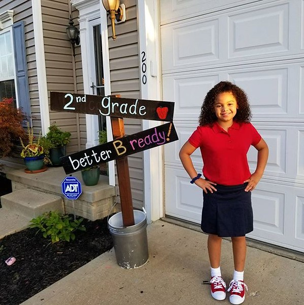. Sophia Turner is ready for her first day of 2nd grade at Maple Elementary School in Painesville. (Submitted)