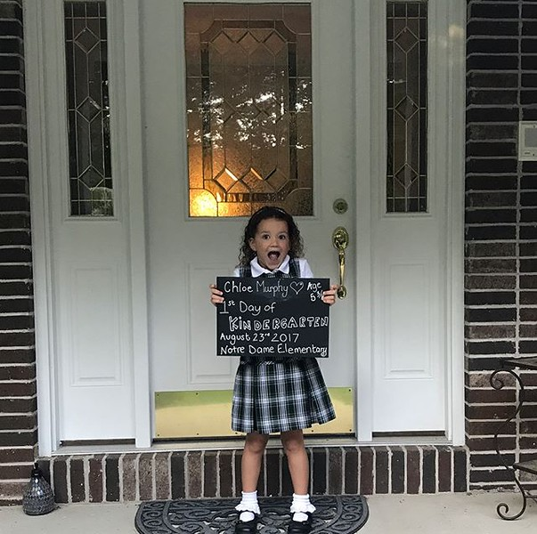 . Chloe Murphy is excited for her first day of Kindergarten at Notre Dame Elementary! (Submitted)