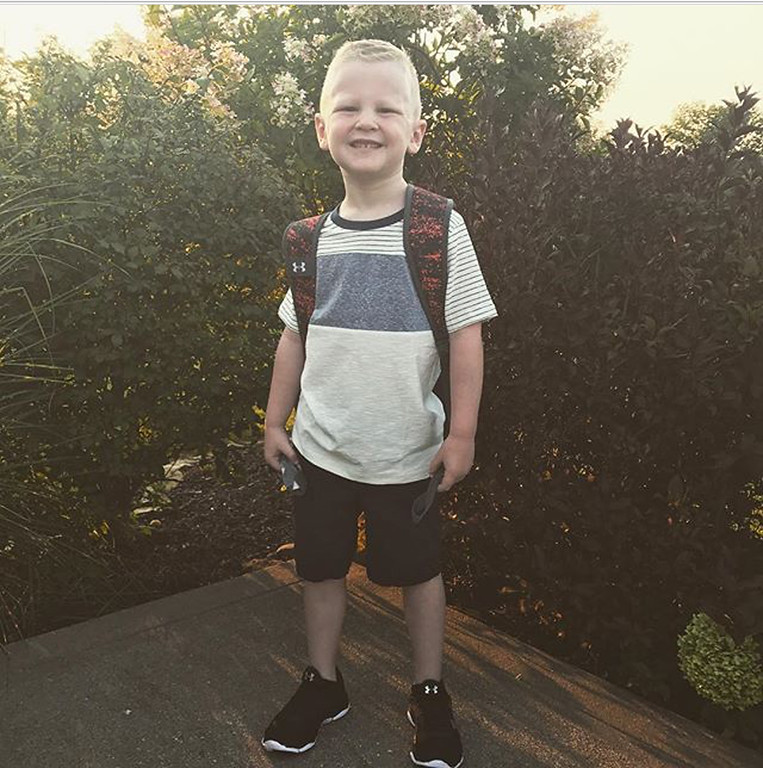 . First day of school at Perry Elementary for Luke Carothers. (Submitted)
