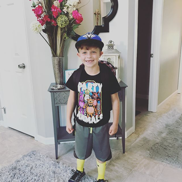 . Evan is swagged out for his first day of first grade at Green Primary School. (Submitted)