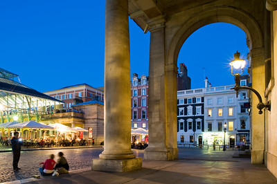 People enjoy night out in restaurants in Covent Garden, London, United Kingdom