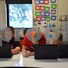 Katrina J.E. Milton - kmilton@shawmedia.com<br /> On Wednesday, Aug. 16, Indian Creek Middle School students explored their new Chromebooks in Joanne Burton's sixth grade class on the first day of school. This was not only the first day of school for the students, it was also the first day in a new school building. The middle school changed locations from its previous location at 425 S. Elm St. to the renovated and expanded Waterman Elementary School, 335 E. Waterman St. From left, Collin Blockinger, Caden Kaelin and Tristen Snow.