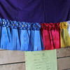 Kailee Leonard — The News-Herald <br> Many competitors proudly display their ribbons throughout the week. Seen here are just some that were won during the Draft horse competitions that were held in the morning.