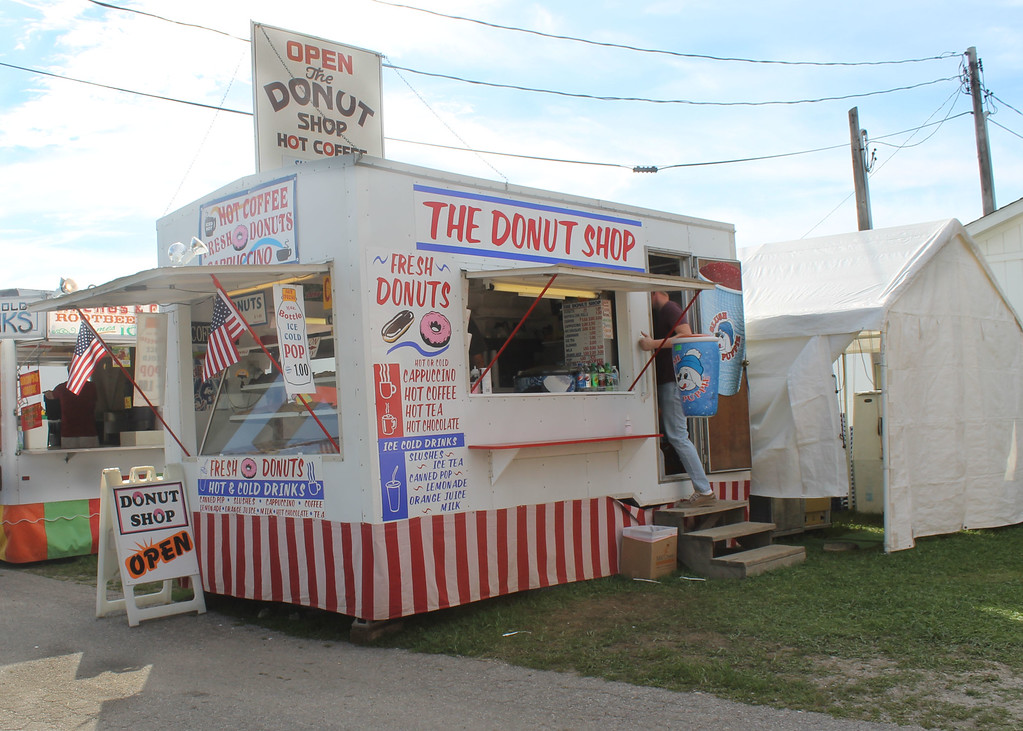 . Kailee Leonard � The News-Herald <br> The Donut Shop opens early and closes late every day at fair with the intention to provide 4H members with their early morning coffee or late night snack.