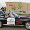 Kailee Leonard — The News-Herald <br> Northern Ohio Quarter Horse Queen, Brooke Harrison rides and passes out candy in the annual Lake County Fair parade Wednesday evening.