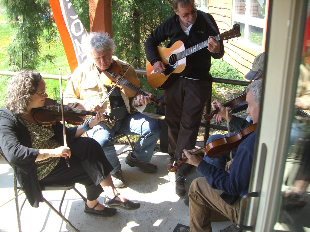 . Submitted <br> Musicians jam out at the first Blue Sky Folk Fest in 2011.