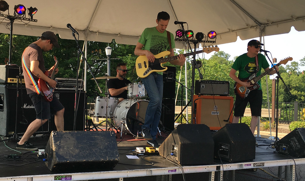 . Richard Payerchin � The Morning Journal  The band Stalemate became the first musical act to perform at the first ever Garford Arts Fest, which brought food, artists and music to Kerstetter Way in downtown Elyria. Hundreds turned out for the inaugural festival on Aug. 18, 2018.