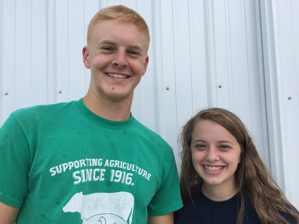 . Submitted <br> Dylan Andolsek, left, 17, serves as an executive committee member and dairy chair, and Cori Aviles, 16, dairy assistant on a Lorain County Jr. Fair Board for the 2018 Lorain County Fair Aug. 20-26 at 23000 Fairgrounds Road in Wellington.