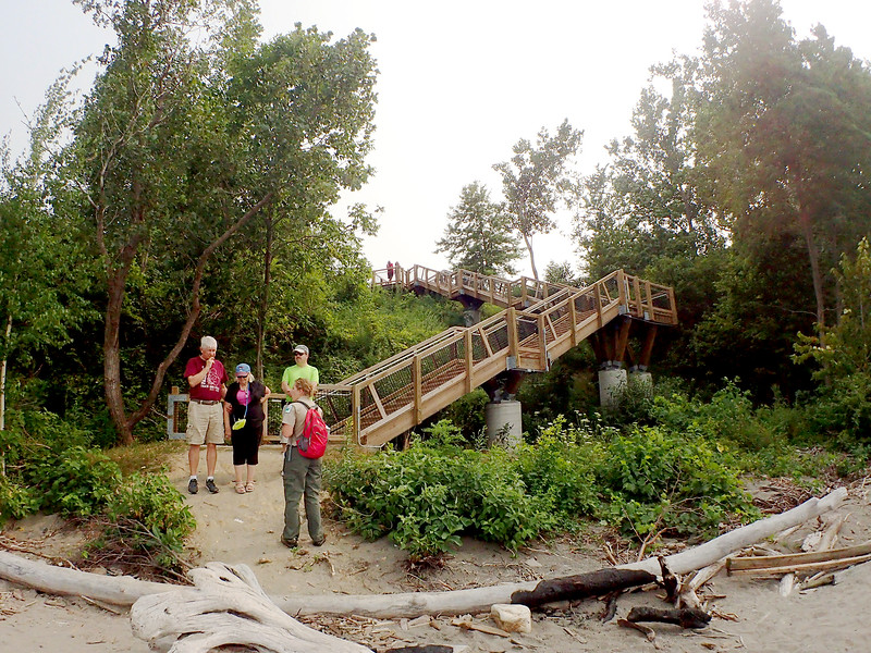 Jonathan Tressler - The News-Herald. Lake Metroparks Interpretive Naturalist Amber Walden begins a tour of Lake Erie's shore Aug. 19 at Lake Metroparks' Best of the Bluffs event at the park system's Lake Erie Bluffs property in Perry Township.