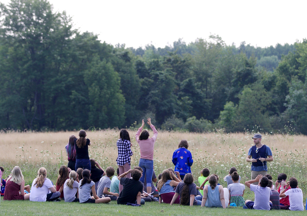 . Jonathan Tressler - The News-Herald <br>.  A scene from the Eclipse Party at tyhe Geauga Park District�s Observatory Park in Montville Township Aug. 21.