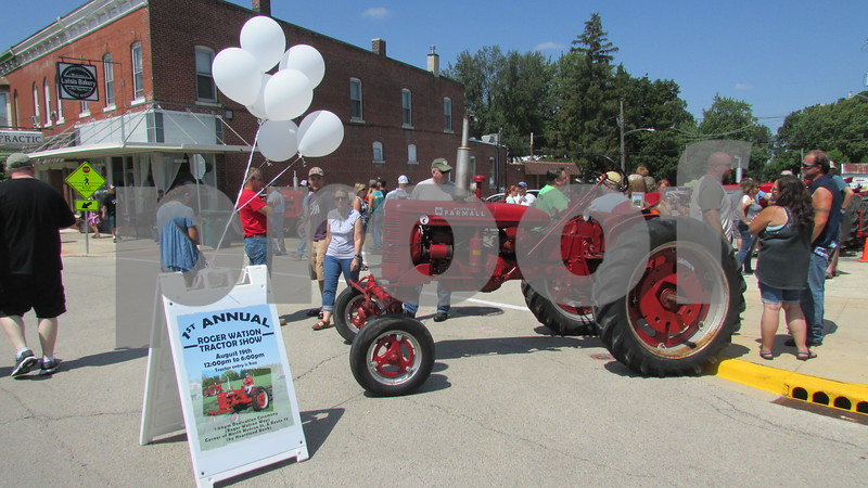 "The inaugural Roger Watson Tractor Show took place Saturday in conjunction with the dedication of ""Roger Watson Way"" in Genoa.  Aimee Barrows for Shaw Media"