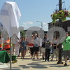 "Mayor Mark Vicary speaks at the dedication of ""Roger Watson Way"" during the Cruisin' to Genoa Car Show on Saturday in Genoa.  Aimee Barrows for Shaw Media"
