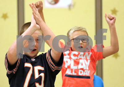 082216 Anti-Bullying at North Elementary with Bears' Staley