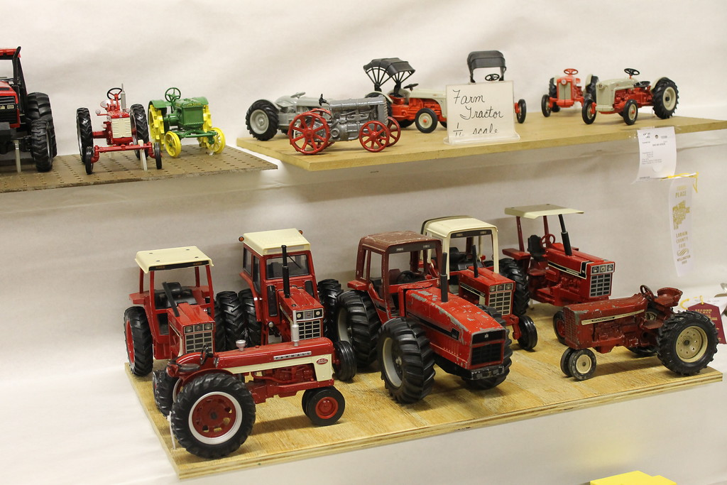 . Miniature tractors are on display at the 172nd Lorain County Fair, 23000 Fairgrounds Rd in Wellington. The Fair runs from Aug 21-27 this year and general admission is $5. (Kailee Leonard/The News-Herald)