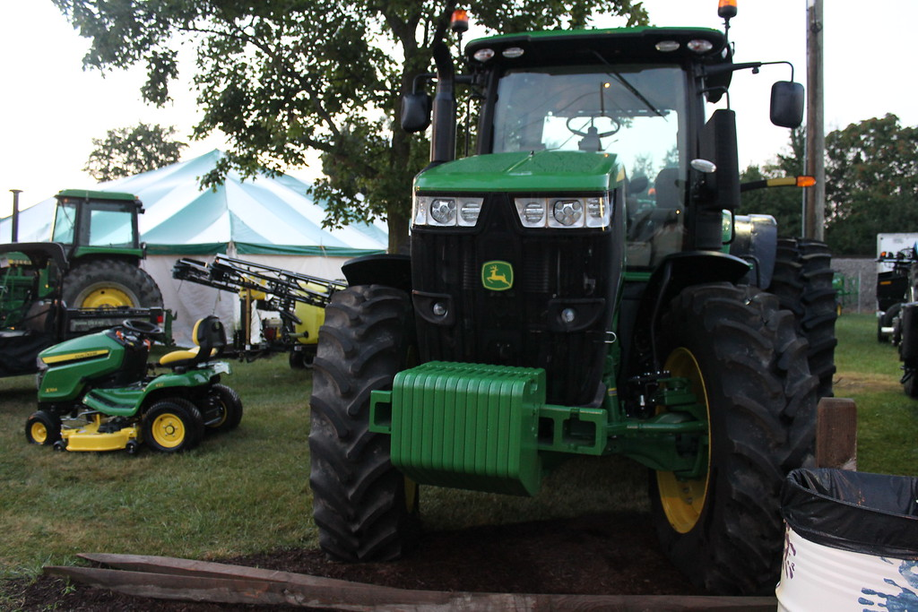 . Tractors are on display at the 172nd Lorain County Fair, 23000 Fairgrounds Rd in Wellington. The Fair runs from Aug 21-27 this year and general admission is $5. (Kailee Leonard/The News-Herald)