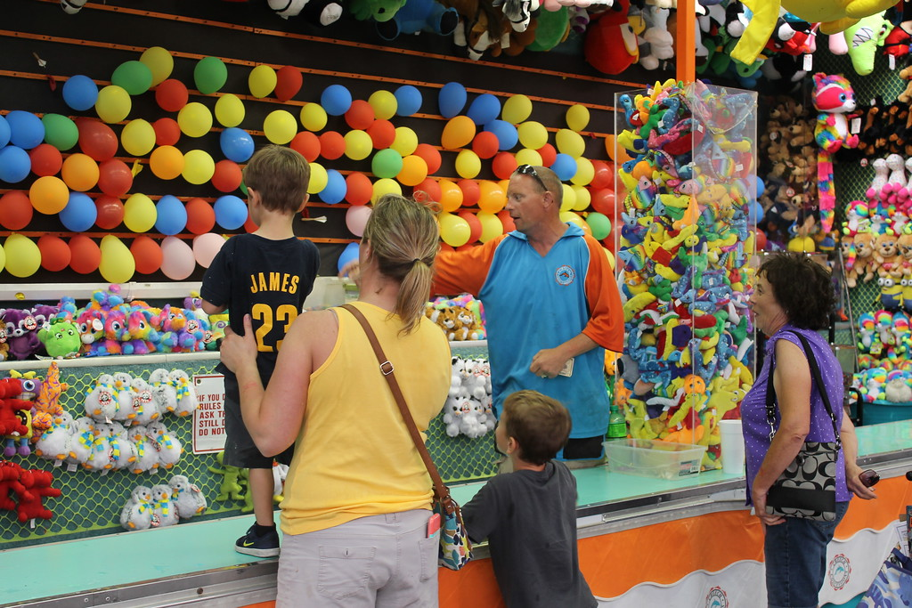 . Fair games galore are at this year\'s Lorain County Fair. Admission to the fair is $5 and it runs until Sunday August 27. (Kailee Leonard/The News-Herald)